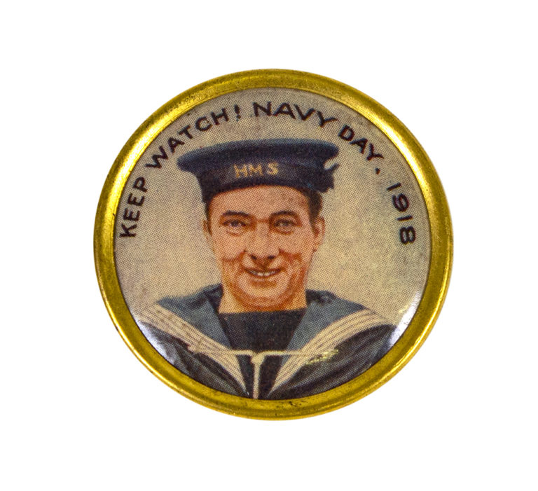 Image of a sailor with the text 'Keep Watch! Navy Day 1918