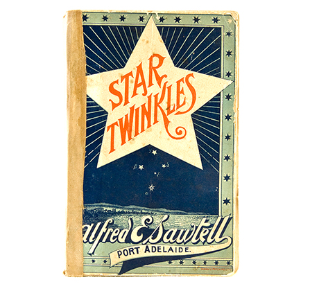 Cardboard book cover illustrated with a large star and the title Star Twinkles